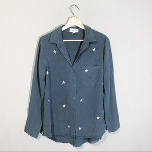 Anthropologie | Blue Stargazer Button Up Size Sm